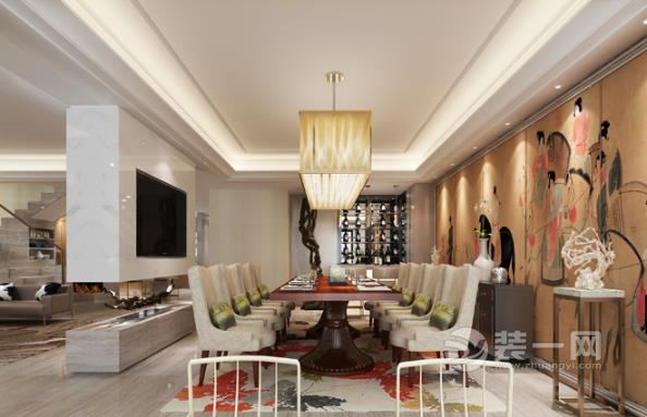 316平米新中式風格複式大公寓設計 安靜又不失雅緻