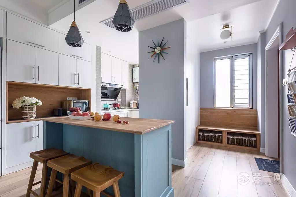 127平米五口之家 北歐混搭風格三室兩廳裝修實景圖