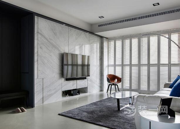 130平米房屋設計圖 半開放式廚房遇上質感現代簡約風
