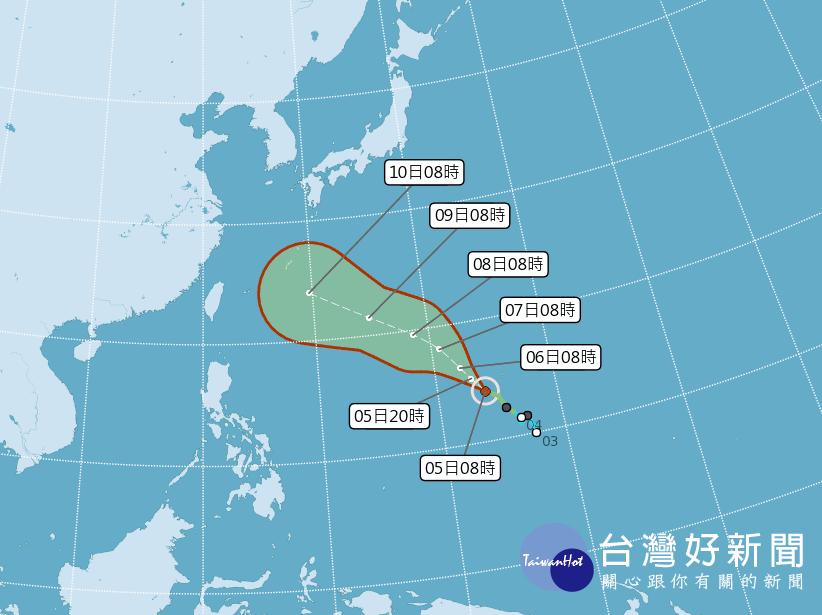 瑪莉亞一路向西恐成中颱 短期對台灣無影響