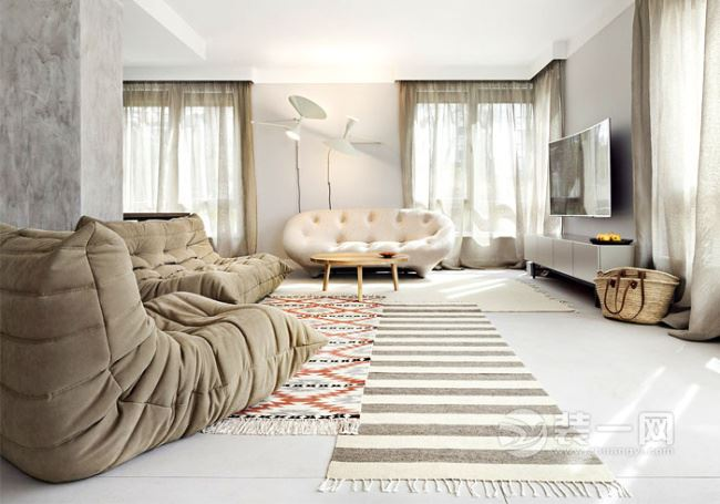 米蘭白色現代簡約公寓裝修設計 溫暖舒適的現代住宅