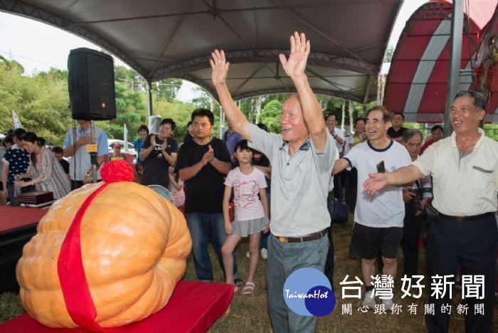 觀音超級大南瓜競賽 568台斤奪冠