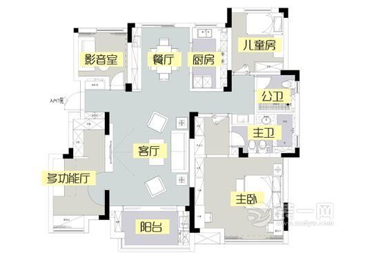 老婆18萬裝修140平四室兩廳兩衛 多功能廳設計超炫