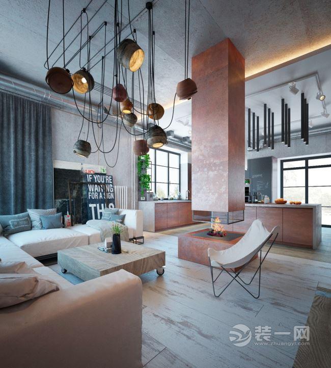 基輔輕工業風格裝修公寓 硬朗卻不乏溫馨感