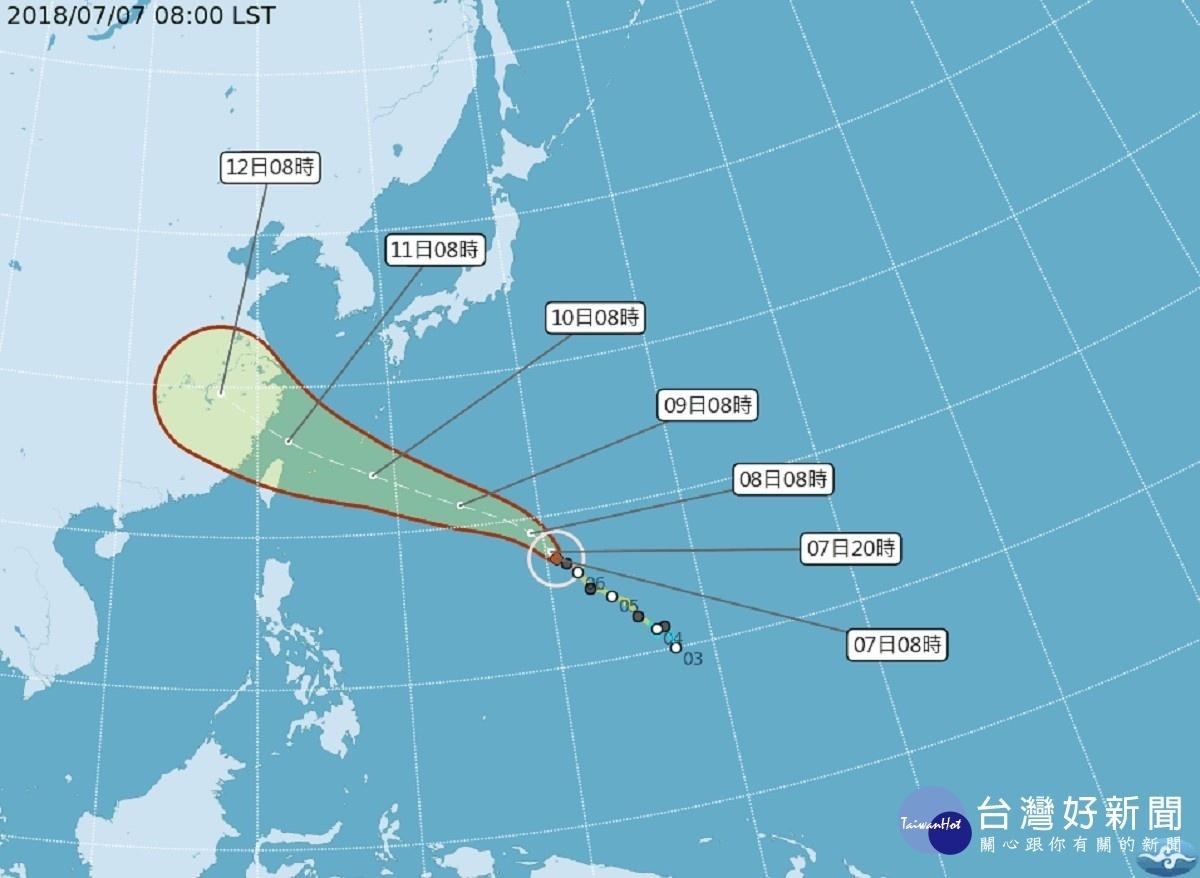 強颱瑪莉亞路徑南偏 氣象局:最快下週一發海警