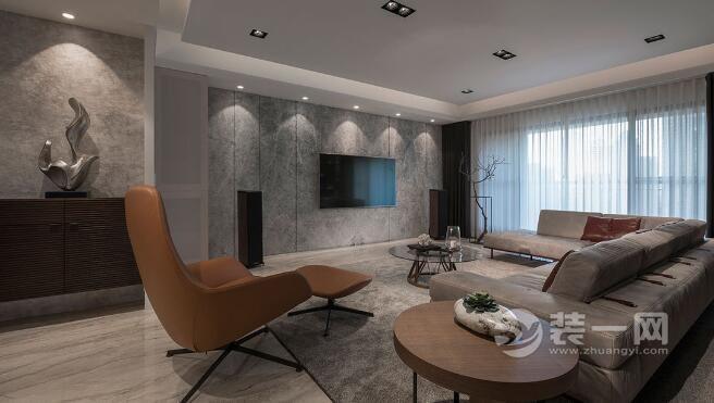 250平別墅裝修樣板房 大地色系演繹生活的柔美與隨性