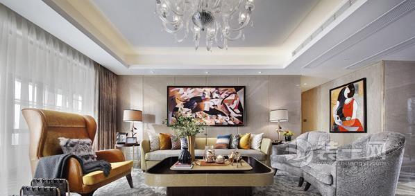 奢華尊貴超具藝術感 188平米現代風格裝修樣板間