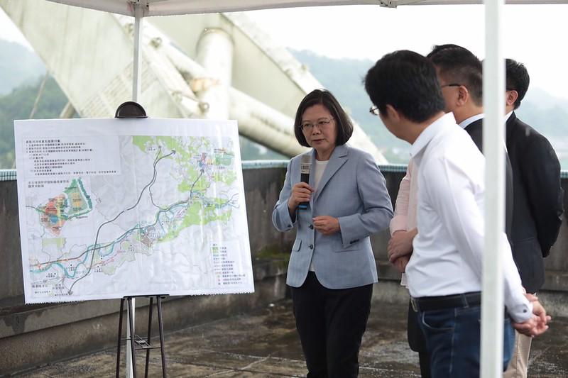 蔡英文宣布 基隆河流域土地開發管制解禁